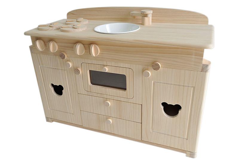 キッチン 木製キッチン : ル 木製おままごとキッチン ...