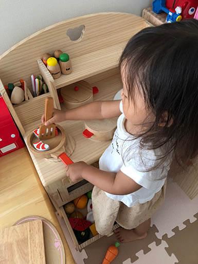 滋賀県T様とトッドルのおままごとキッチンTK01