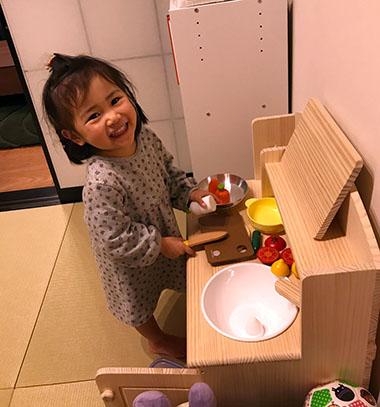 なんぶ様とトッドルの木製おままごとキッチンTK01